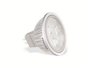 Toshiba GU5.3 LED 4W - Lámpara LED (4 W, GU5.3, 260 lm, 25000 h, 4000 K, 25°): Amazon.es: Iluminación