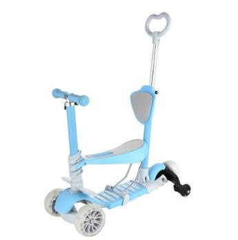 スクーター子供男の子と女の子のヨーヨースリーインワンは三輪フラッシュホイールワイドホイール初心者三輪スクーターに座ることができます ( Color Color : : ブルー ( ) B07P6X89M7, ジュエリーニック:148e55db --- itxassou.fr