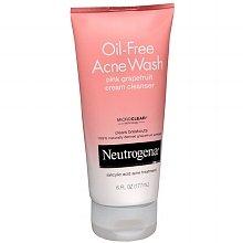 Neutrogena Oil-acné sans crème nettoyante pamplemousse rose 6,0 onces liquides (Quantité de 2)