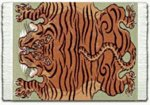 Lextra TibeTan Tiger, 10.25 x 7.125 Inches, MouseRug, Orange, Sage and Brown, One (MTT-1)
