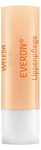 WELEDA Everon Lippenpflege, Naturkosmetik Lippenstift aus Sheabutter und Rosenwachs zur Pflege und Schutz trockener Lippen, mit natürlichem UV Schutz (1 x 4.8 g)