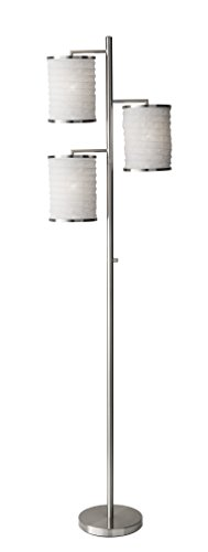 (Adesso 4152-22 Bellows Tree Lamp, Steel, Modern Chic, 74 in. in)
