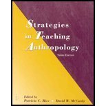 Strategies in Teaching Anthropology, Rice, Patricia C. and McCurdy, David W., 0131116509