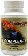 Vitamins Food Science B-complex (Food Science Labs - B Complex-75, 60 capsules)