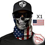SA Company Face Shield with American Flag Sticker (American Flag Skull)