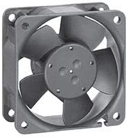 EBM-PAPST 612NHH DC Fans 60x25mm 12VDC 33CFM 3W 6350RPM 43dB BB Fiberglass Reinforced PBT Frame 2 Wire Leads