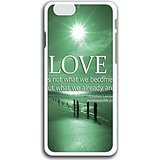 Slim Fit Case for fashion picture hard shell white case for Iphone 6 infinite love aah1 Individuality for E-GLL CASE