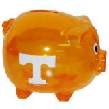 NCAA TENNESSEE VOLUNTEERS PLASTIC PIG BANK