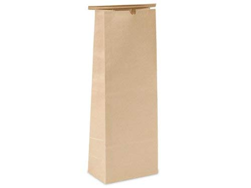 Pack of 100, Solid 5 Lb Kraft Tin Tie Coffee Bags 6-1/2