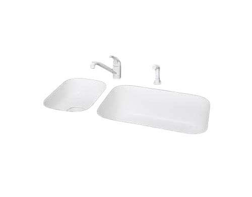Rev-A-Shelf 6541-36SC-50 Slim Line 36'' Slim Series Sink Front Tip Out Trays with, White by Rev-A-Shelf