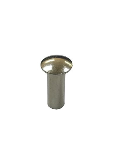 FixtureDisplays 12-Pack 0.23'' Dia. x 0.7'' L Stainless Steel Tubular Rivet 18203-6X18-12PK by FixtureDisplays (Image #1)