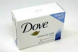 Dove White Travel Size Bar Soap With Moisturizing Cream 2.6 oz Dove Moisturizing Bar Soap