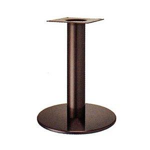 e-kanamono テーブル脚 ソフトS7440 ベース440φ パイプ101.6φ 受座240x240 ジービーメッキ AJ付 高さ700mmまで B012CC86WW