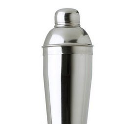 3 Piece Stainless Steel Cocktail Shaker, 24 ounce by WIDGETCO