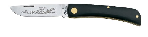 Case Cutlery 095 Case Sod Buster, Jr. Pocket Knife with Stainless Steel Blade, Black Synthetic, Outdoor Stuffs