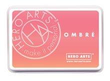 Hero Arts Ombre Ink Pads - Peach, Purple, Brown and Gray/Black - 4 item bundle