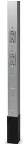 Hubbell Wiring Systems HBLPPO15A Four Style Line Knockout Extruded Aluminum Service Blank Pole with Divider, 182'' Height, Gray by Hubbell Wiring Systems