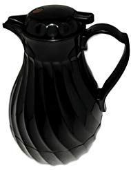 Polyurethane insulation keeps beverages hot or cold. - HORMEL CORP * Poly Lined Carafe, Swirl Design, 40oz Capacity, Black
