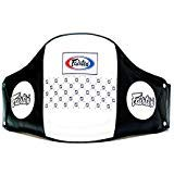 Fairtex Leather Belly Pad, Black/White, One Size