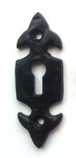 Negro cerradura de hierro fundido maleable, estilo antiguo, acero inoxidable –  diseñ o de flor de lis acero inoxidable-diseño de flor de lis doorfittings4u