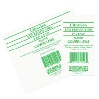 Ultraview Eye Protection Cover Lens, Clear, 2 in x 4 1/4 in, Polycarbonate (320 Pack)