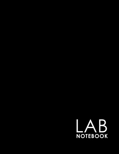 Lab Notebook: Lab Notebook Blank Pages, Organic Chemistry Lab Notebook, Lab Notebook Grid, Chemistry Lab Notebook, Minimalist Black Cover (Volume 15)