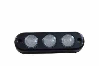 3 LED Spreaderライトinビレットアルミハウジング(フラット) ( -black-red ) B007KEN3WQ