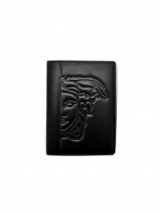 Versace collection leather medusa card case wallet black at amazon versace collection leather medusa card case wallet black colourmoves