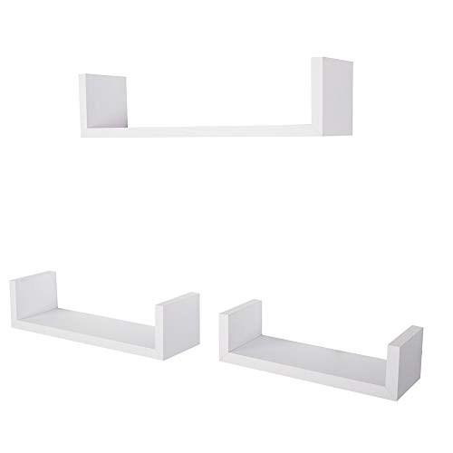 Anferstore Set of 3 Floating Wall Shelves,