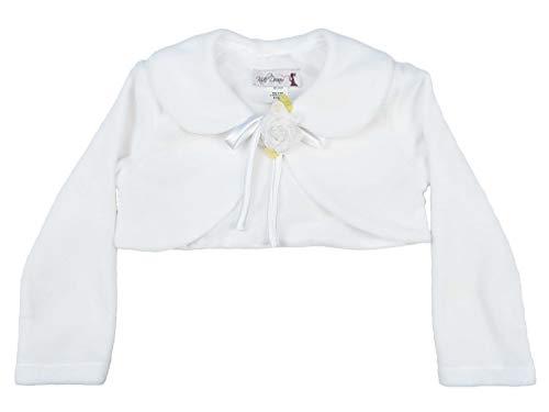 Jacket Bridal Stock - Cozy Long Sleeve Bolero Jacket Cover - White Girl 12