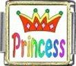Princess with Crown Italian Charm Bracelet Link