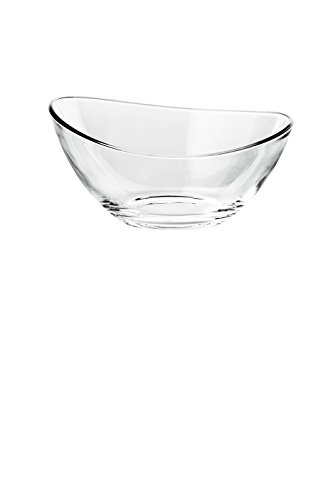 Barski European Glass Round Individual Bowl - Wavy Top (Set of 6), 5.5