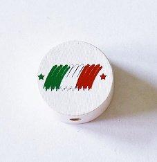 Diseño Perla (Madera) Fútbol Bandera italia Adecuado para ...