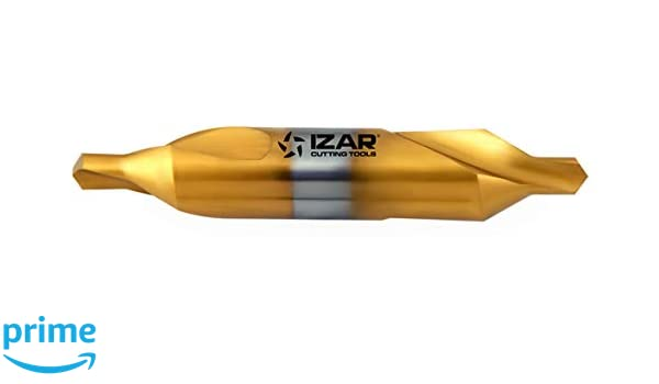 Izar 74884 Broca Centrar Doble, HSS, TiN, 1310, DIN 333 A, 2.50 mm Diámetro Corte, 8.00 mm Mango: Amazon.es: Industria, empresas y ciencia