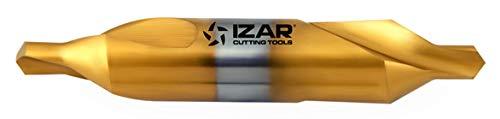 Izar 74884–Foret à métaux HSS din333a centrer Tin 02, 50x 08, 00mm 50x 08 00mm