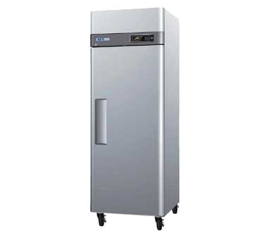 Turbo Air M3R191 20 cu.ft M3 Series Refrigerator with 1 Solid Door Digital Temperature Control System Hot Gas Condensate System Efficient Refrigeration System and Stainless Steel Cabinet