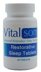 Sleep Tablets 30 - Nature's Vision - Vitalsom Advanced Restorative Sleep Technology - 30 Tablets