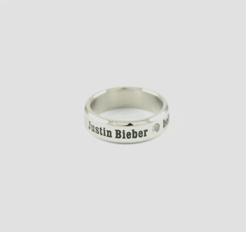 Justin Bieber merchandise case tatianium ring hot sale ac...