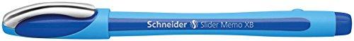 Schneider Slider Memo XB Kugelschreiber (Kappenmodell) 10er Packung blau