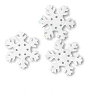 2 Pack of 25 White Tissue Snowflakes bundled by Maven Gifts ()