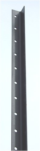 Deer Fence: 9 ft Black Angle Steel Fence Posts - 8 pk by Deerbusters