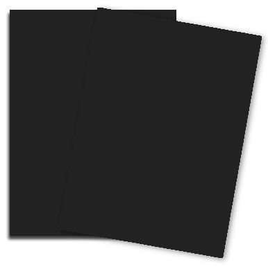 Black Licorice 8-1/2-x-14 Cardstock Paper 250-pk - 176 GSM (65lb Cover) PaperPapers Legal size Econo Card Stock Paper - Business, Card Making, Designers, Professional and DIY Projects