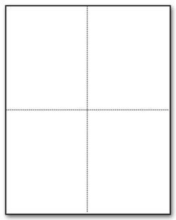 "W-2 or 1099 Forms Blank Paper 4-Up Version""NO Instructions on Back"" for Laser and Ink Jet Printer (1 Pack of 100 Sheets)"