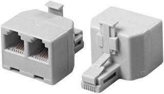 MULTICOMP 8588-0166A MODULAR SPLITTER, 2 x 6P4C JACK - 6P4C PLUG