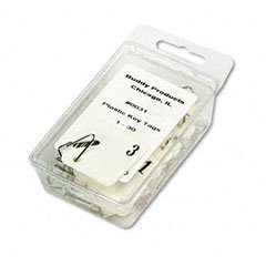 Buddy Products Plastic Key Tags, Numbered 1-30, White (0031)