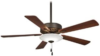 Minka-Aire F656L-ORB, Contractor Uni-Pack 52 Ceiling Fan with LED Light, Oil Rubbed Bronze Finish with Reversible Medium Maple or Dark Walnut Blades