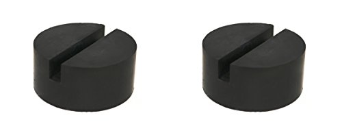 TMB 2 Pack Universal Medium Size Slotted Rubber Jack Pad Frame Rail - Frame Medium Size