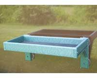 Eco Friendly Recycled Plastic Window Mount Platform Feeder Removable Screen Tray ()
