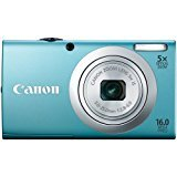 (Canon PowerShot A2400 IS 16.0 MP Digital Camera with 5x Optical Image Stabilized Zoom 28mm Wide-Angle Lens with 720p Full HD Video Recording and 2.7-Inch LCD (Blue) )