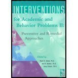 Interventions for Academic and Behavior Problems II 9780932955876